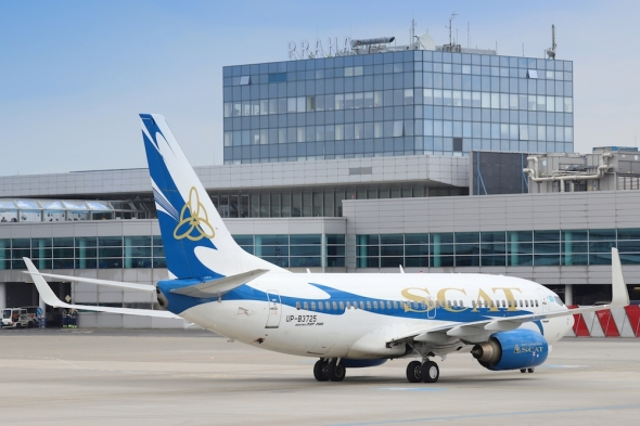 Boeing 737 SCAT Airlines Letiště PrahaJPG