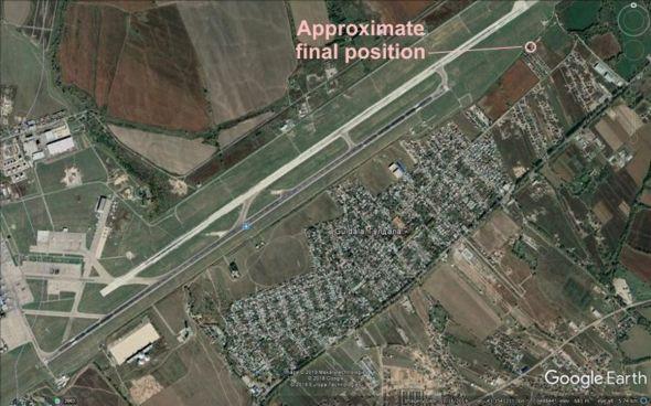 Letiště Almaty a místo havárie