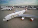 Emirates Airbus A380 letiště Dubaj