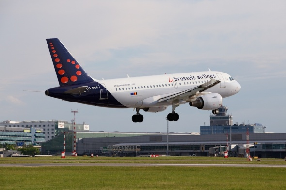 Letiště Praha Airbus A319 Brussels Airlines