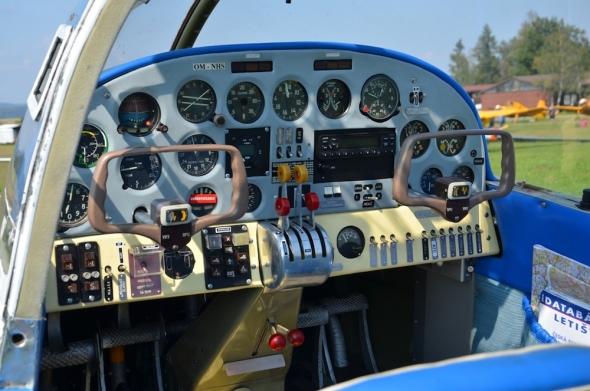Aero 45 kokpit slet československých letadel Jihlava 2020