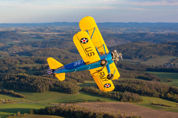 Boeing Stearman 75 pilot Milan Mikulecký