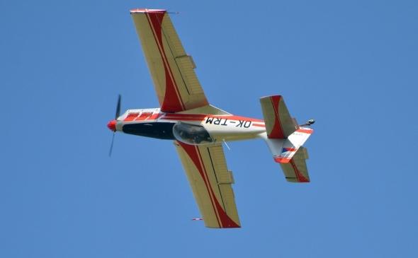 Zlín Z50M slet československých letadel Jihlava 2020.