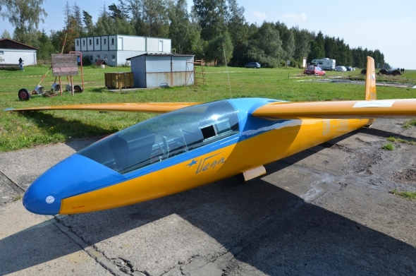 kluzák VSB-62 Vega slet československých letadel Jihlava 2020