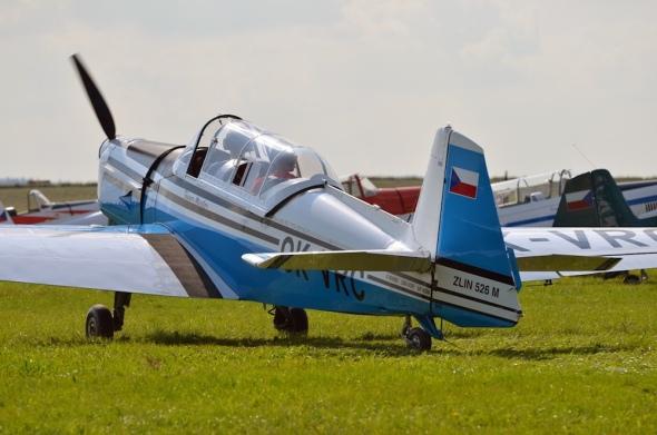 slet československých letadel Jihlava 2020. Zlín Z 526 OK VRC