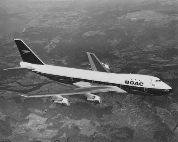Boeing B 747 BOAC za letu