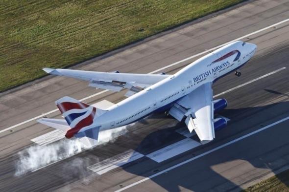British Airways Boeing B 747 BA přistání