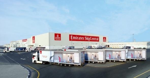 Emirates Sky centrál sklad