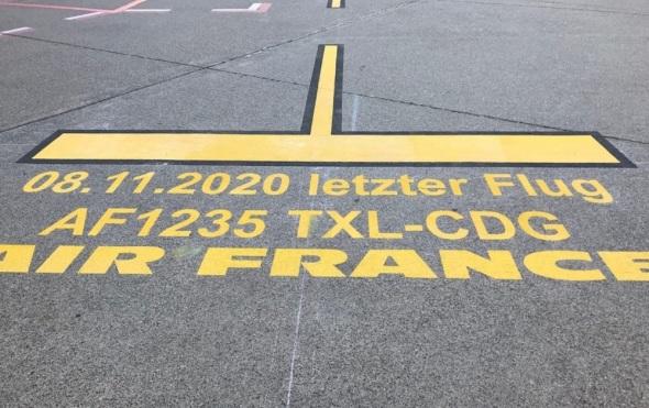 poslední let Berlin Tegel Paříž