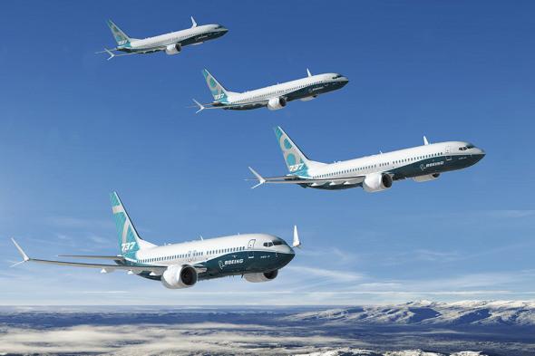 Boeing 737MAX skupinový let