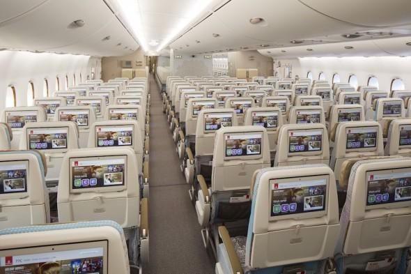 Emirates Airbus A380 Premium Economy třída