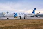 EgyptAir Airbus A220 Letiště Praha