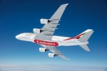 Emirates Airbus A380 in the air
