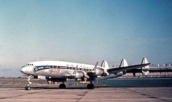 Constellation Air France Praha Ruzyně