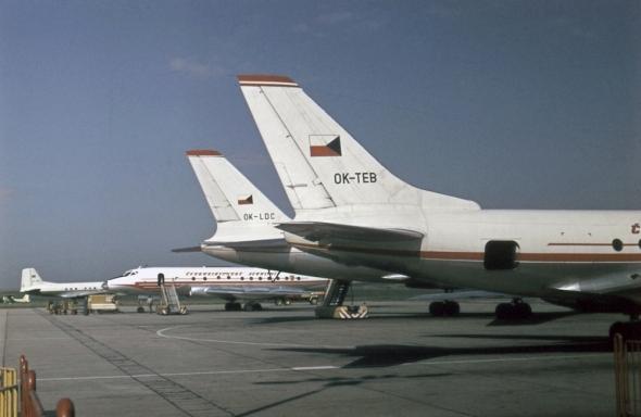 Tupolev TU124 OK-TEB Praha Ruzyně