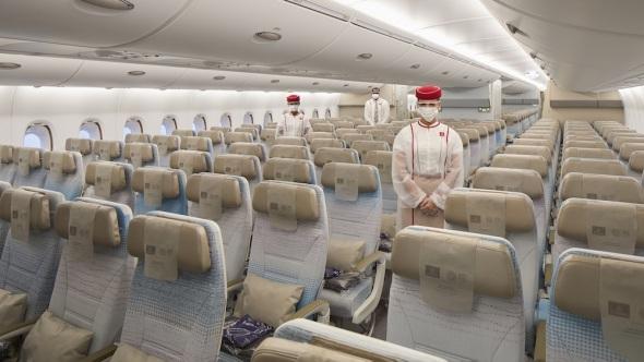 Emirates Airbus A380 economy class COVID