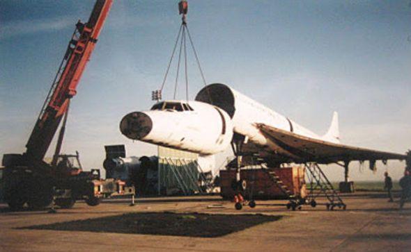 Air France Concorde  F BVFD demontáž